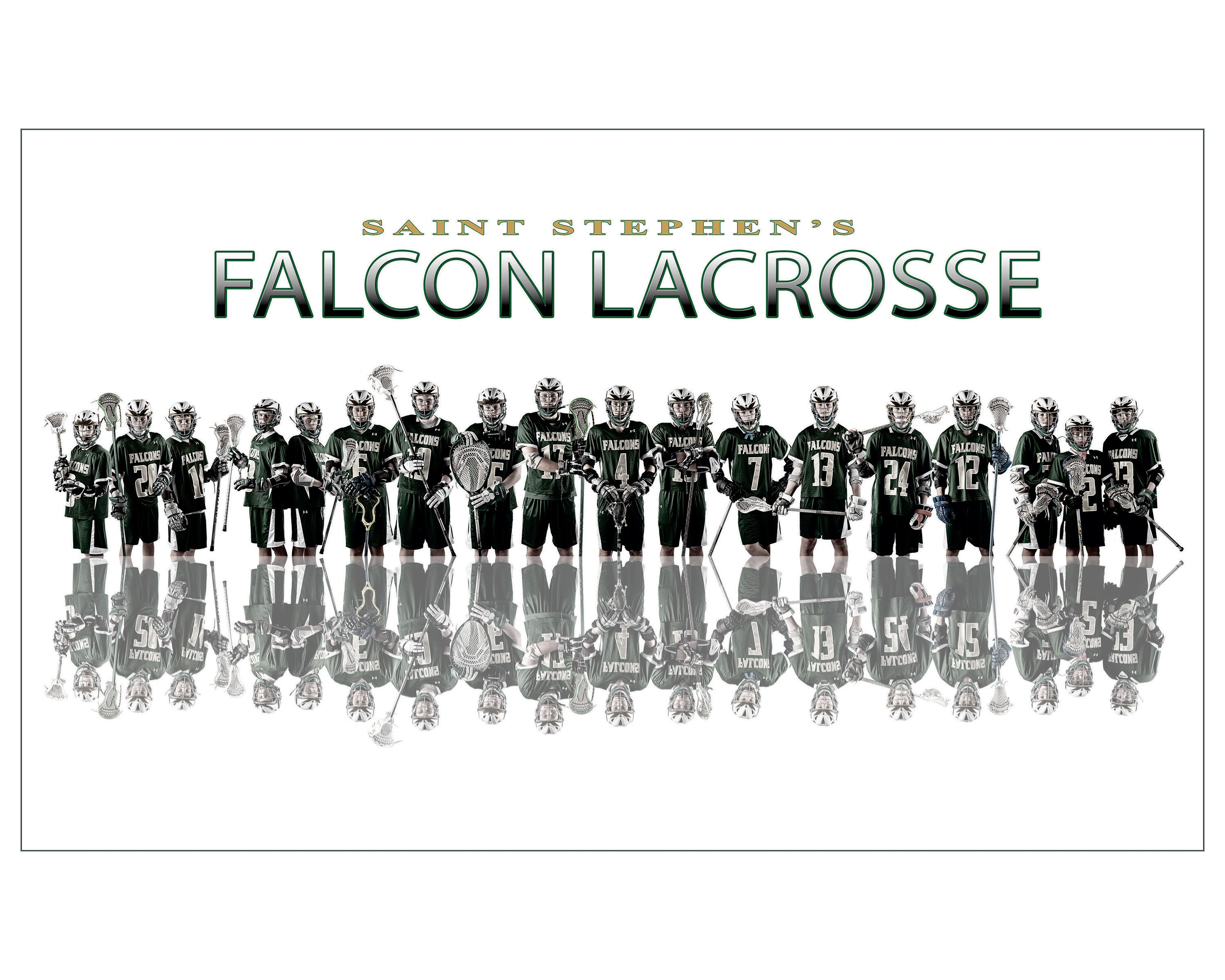 Creative sports team composite portraits St. Stephen's Lacrosse