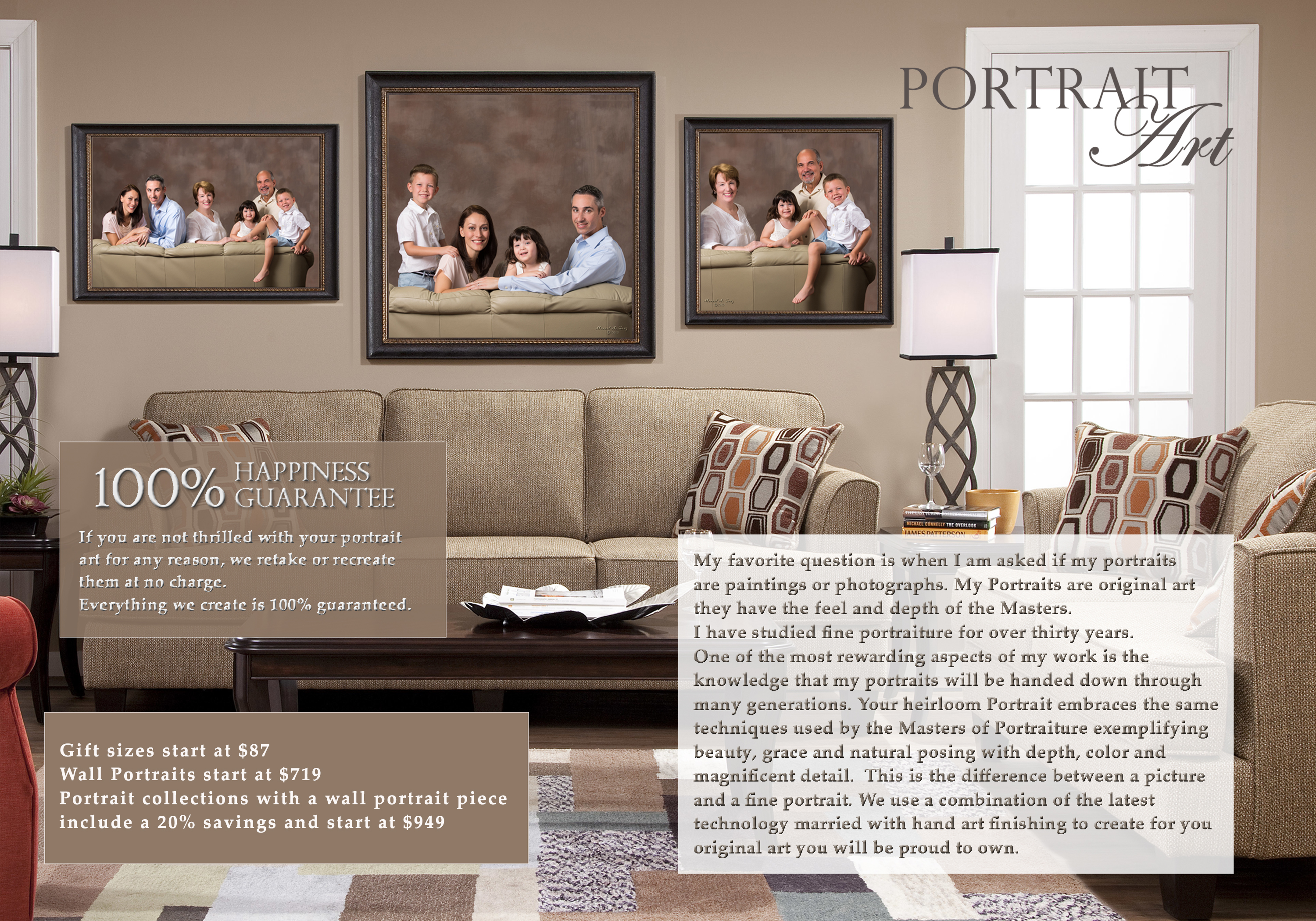 Portrait Guide Family Portrait Pricing!