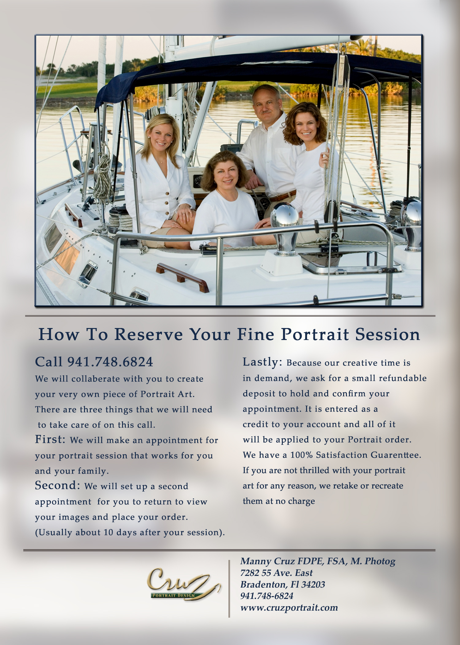 Portrait Guide How to reserve your fine portrait session.