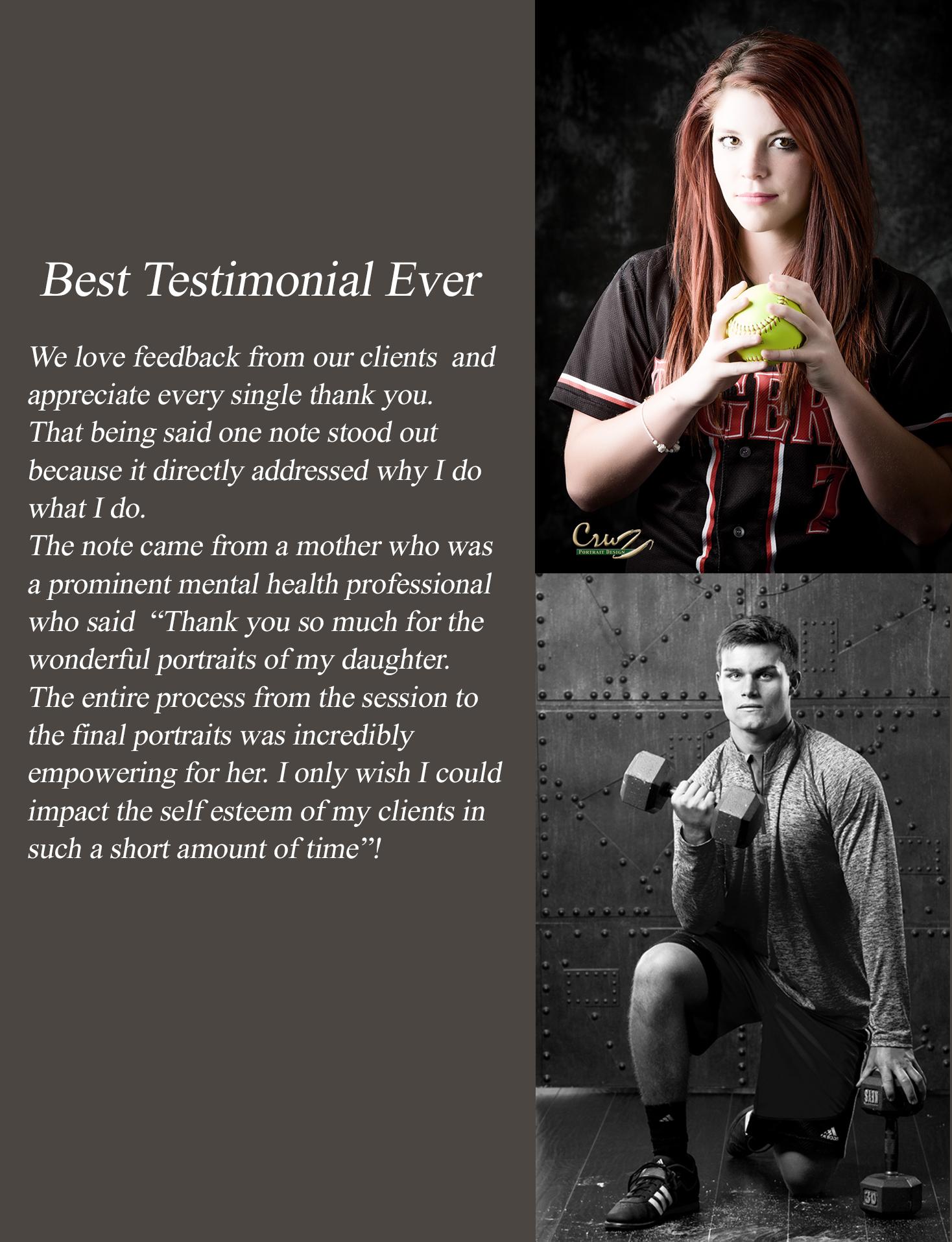 Senior Portrait Testimonials