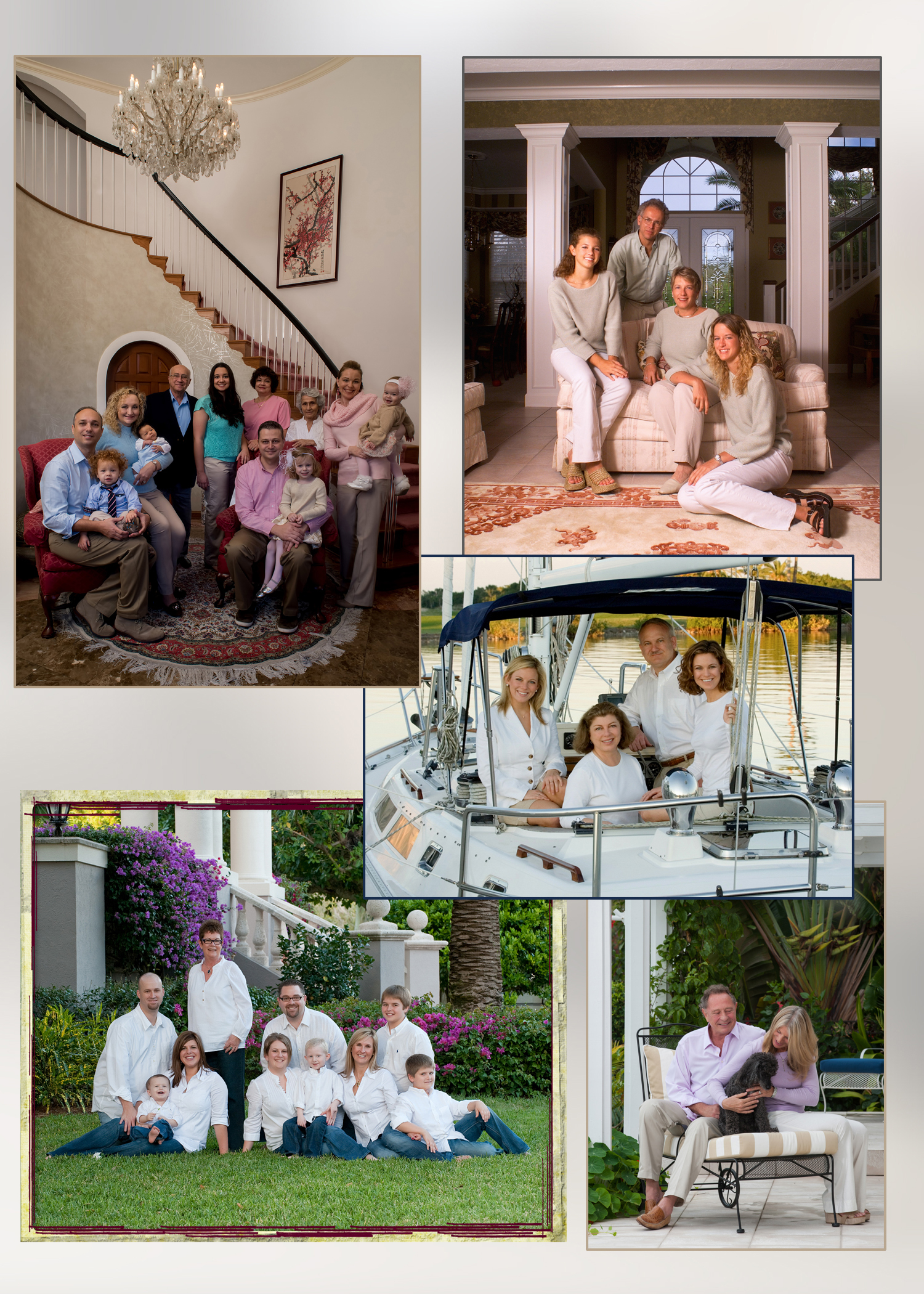 Family Portraits on location at your home or on your boat
