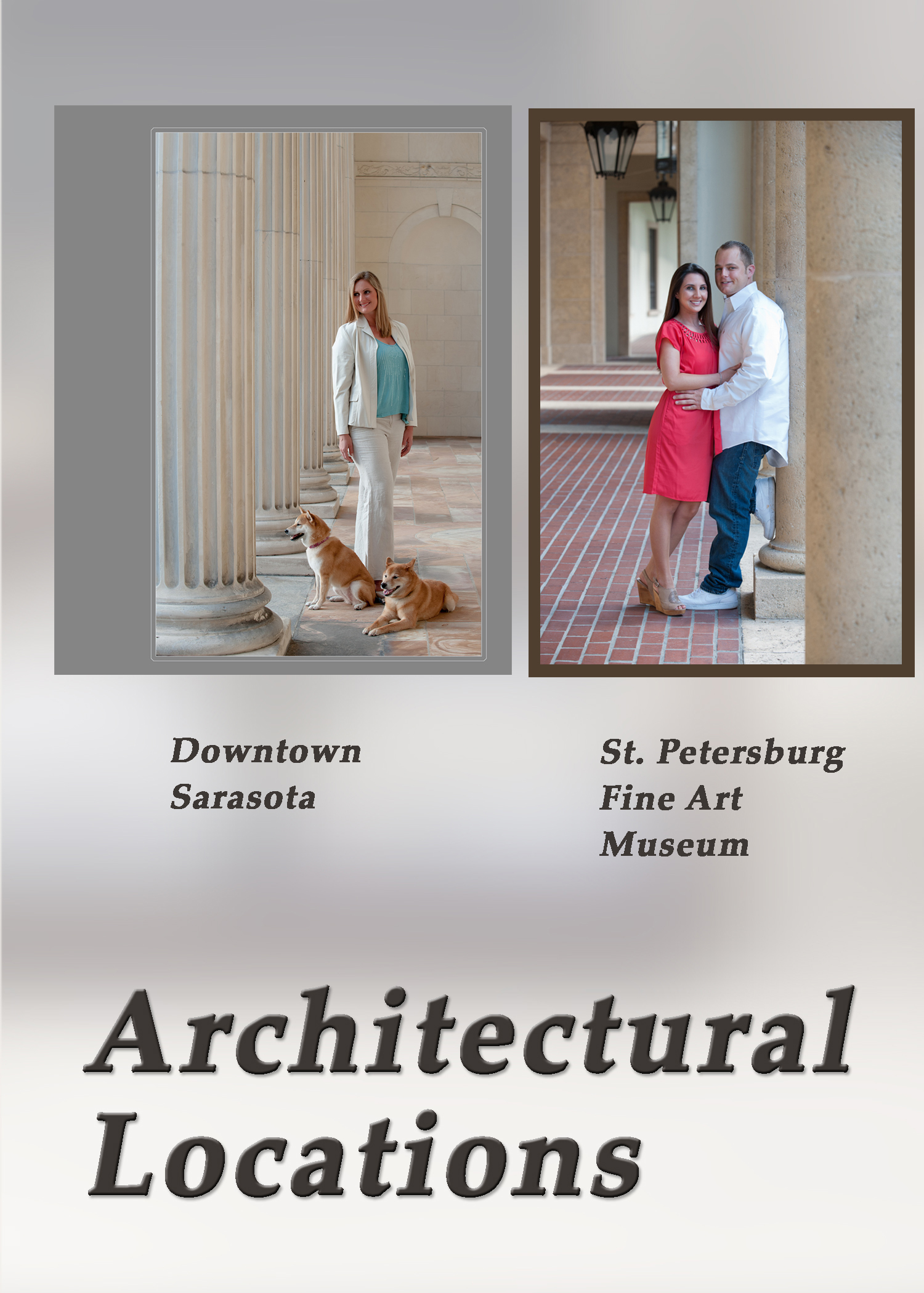 Architecural portraits on location Down town Sarasota, Bradenton, St. Petersburg, Florida